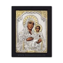 Icoana metal - Maica Domnului din Ierusalim 19x24 cm K104-006