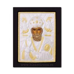 Icoana metal - Sfantul Ierarh Nicolae 19x24 cm K104-009