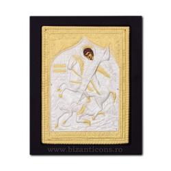 Icoana metal - Sfantul Mare Mucenic Dimitrie - Izvoratorul de mir 19x24 cm K104-014