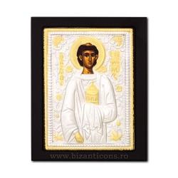 Icoana metal - Sfantul Arhidiacon Stefan 19x24 cm K104-158