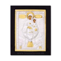 Icoana metal - Maica Domnului - Izvorul Tamaduirii 19x24 cm K104-210