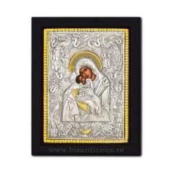 Icoana metal - Maica Domnului Dulcea Sarutare 19x24 cm K104-412