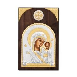 Icoana argintata - Maica Domnului din Kazan 14x21 cm