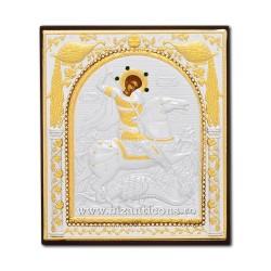 ICOANA metal - pietre 11x12 Sf Gheorghe XM3-010