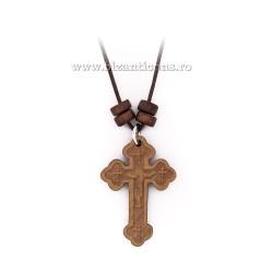 24-69 colier ata + cruce lemn Bizantina 12/set