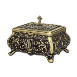 52-351Br cutie metal altar bronz - email - h20x22x26cm 8/bax