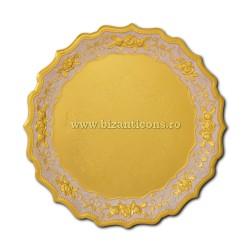 52-361Au disc metal auriu - email 41cm 40/bax