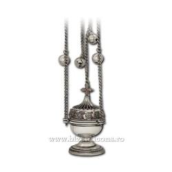 CADELNITA mica - perforata - argintata + patina - pietre 64-12,58cm D 102-4AgAb