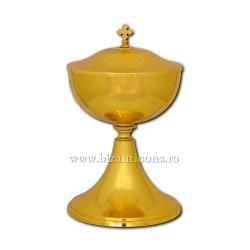 Vas anafora cu capac - metal auriu - 19x31,5cm D 103-4