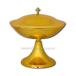 Vas anafora cu capac - metal auriu - 31x30-19,5cm D 103-5