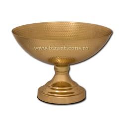 154-31 vas anafora fara capac - masa - metal auriu h29,5x31,5x17,5cm 12/bax