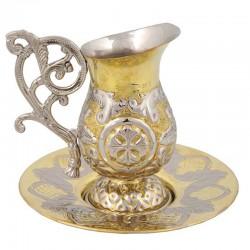 CANA caldura bronz - 2 culori - mare - cizelata V294-16GN