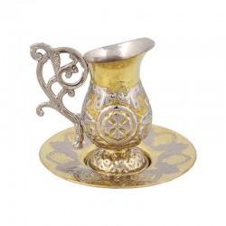 CANA caldura bronz - 2 culori - mica - cizelata V294-12GN