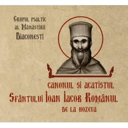 72-103 Canonul si Acatistul Sf. Ioan Iacob Romanul de la Hozeva - CD - Ed. Bonifaciu