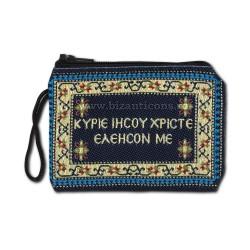 21-15 portofel textil albastru - mare 14,5x10 10/set