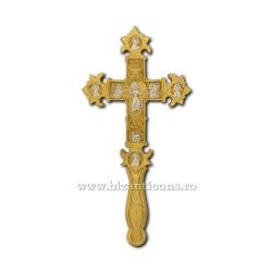 CRUCE BIN aurita si argintata 37 cm - X70-6410