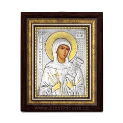The icon with silvered - Holy Mother Parscheva Iasi 36x44cm K700-146