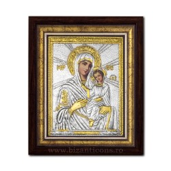 The icon with silvered our lady of Tinos 36x44cm K700-410