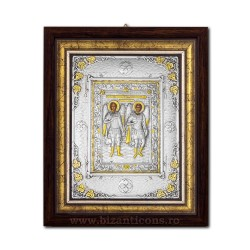 The icon with silvered - the Holy Archangels Michael and Gabriel 36x44cm K700-033
