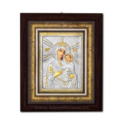 The icon with silvered our lady of Tinos 27x32 cm-K701-410