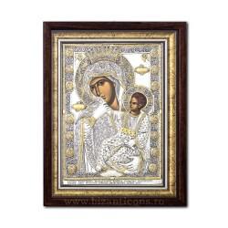 Icoana din argint - Maica Domnului Paramythia - Mangaietoarea 42,5x55,5 cm
