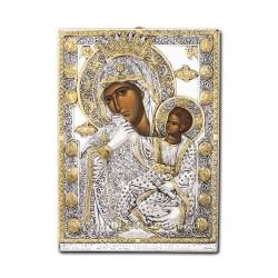 Icoana din argint - Maica Domnului Paramythia - Mangaietoarea 21x29,5 cm