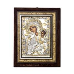 Icoana din argint - Maica Domnului Paramythia - Mangaietoarea 33x42 cm