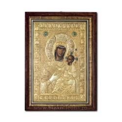 Icoana din argint - Maica Domnului Vimatarissa - Altarita 42x60 cm