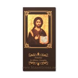 6825-6 pomelnic carton - negru - M Pantocrator 8,6x17,5 50/set