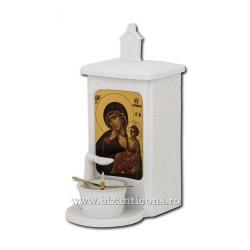 125-036 Candela cu ulei - portelan - perete sau masa 24,5x16x11 cm - MD Paramythia - Mangaietoarea