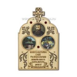 12-11AS icoana lemn Binecuvantarea casei Pr Arsenie Boca - masa 300/bax
