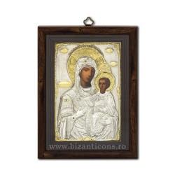 Icoana argintata - Maica Domnului Prodromita 23x31 cm
