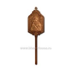 Icoana procesiune lemn ...+110cm R 10-1522