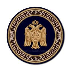 Covor rotund albastru cu vultur Ø 200cm TR 2500-200