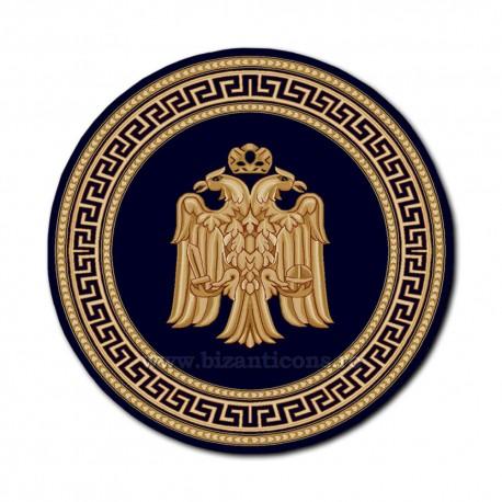 Covor rotund albastru cu vultur Ø 250cm TR 2500-250