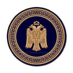 Covor rotund albastru cu vultur Ø 300cm TR 2500-300