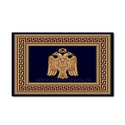 Covor albastru cu vultur 100x130cm TR 2540-1013