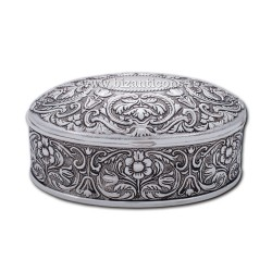 52-23AGP cutie altar ovala - argintie + patina - 11,5x9x5 50/bax