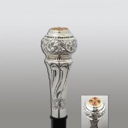 BASTON ARHIERESC argint 925 + patina 13 cm + lemn RK 135-150