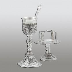 SET SF. VASE 0,4 l argint 925 + patina - sfinti RK 103-253