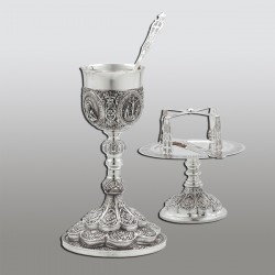 SET SF. VASE 0,6 l argint 925 + patina - sfinti RK 103-257