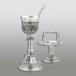 SET SF. VASE 0,5 l argint 925 + patina - sfinti RK 103-256