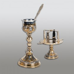 SET SF. VASE 0,4 l aurit si argintat + patina - pahar Argint 925 RK 103-300
