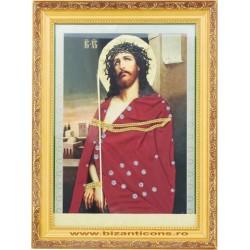 Icoana imbracata in Vesmant - Iisus cu spini