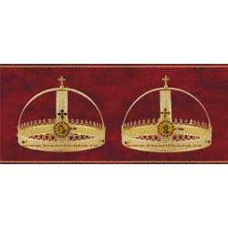 Cununii aurite - coroana cu icoana