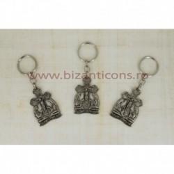 2-14 breloc metal - cruce + ingeri 12/set