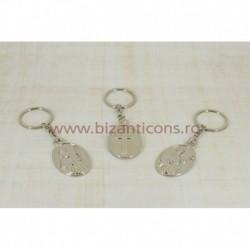 2-39 breloc metal cruce + sfant 12/set