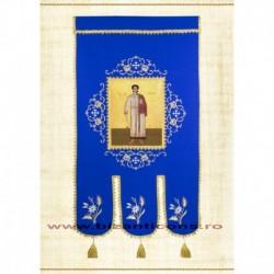 Steag brodat 1 fata - ALBASTRU