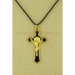 Colier snur + cruce deus aurii