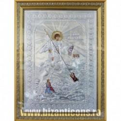 Icoana cu foita argintata - Sfantul Gheorghe